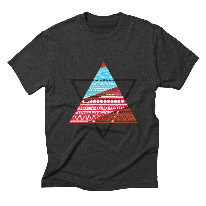 Pyramid3 Men's Triblend T-Shirt by DERG's Artist Shop