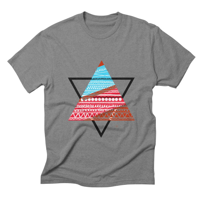 Pyramid3 Men's Triblend T-shirt by DERG's Artist Shop
