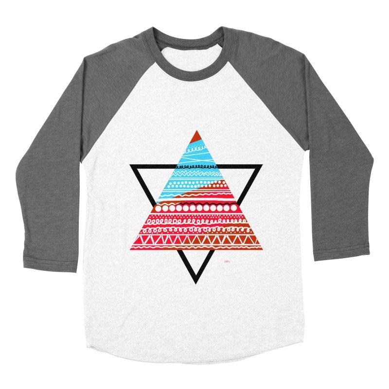 Pyramid3 Women's Baseball Triblend Longsleeve T-Shirt by DERG's Artist Shop