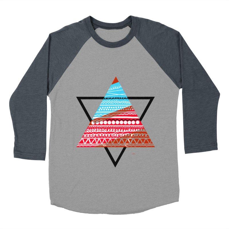 Pyramid3 Women's Baseball Triblend T-Shirt by DERG's Artist Shop