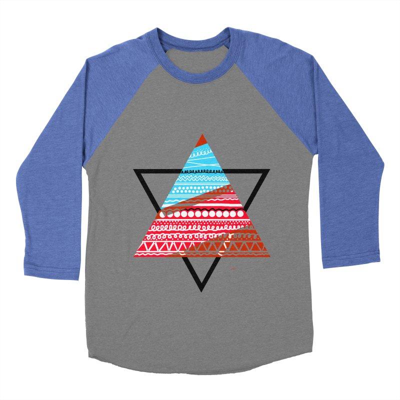 Pyramid3 Men's Baseball Triblend T-Shirt by DERG's Artist Shop