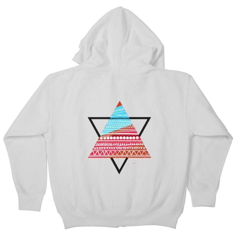 Pyramid3 Kids Zip-Up Hoody by DERG's Artist Shop