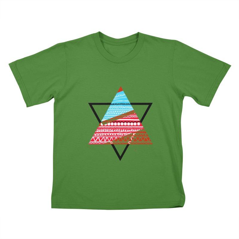 Pyramid3 Kids T-Shirt by DERG's Artist Shop
