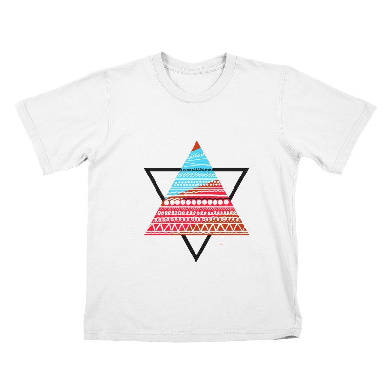 Pyramid3 Kids T-Shirt by DERG's Artist Shop