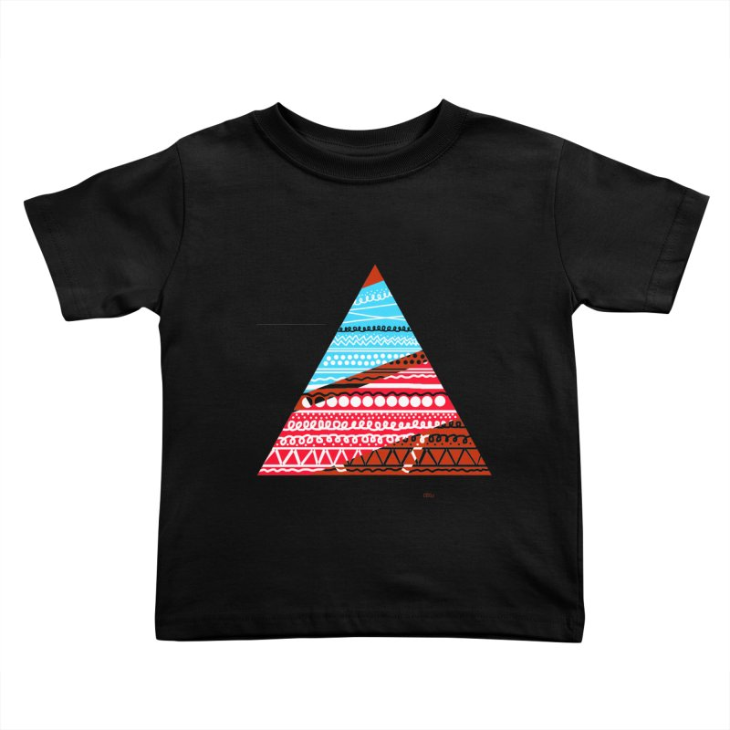 Pyramid3 Kids Toddler T-Shirt by DERG's Artist Shop