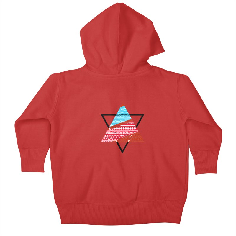 Pyramid3 Kids Baby Zip-Up Hoody by DERG's Artist Shop