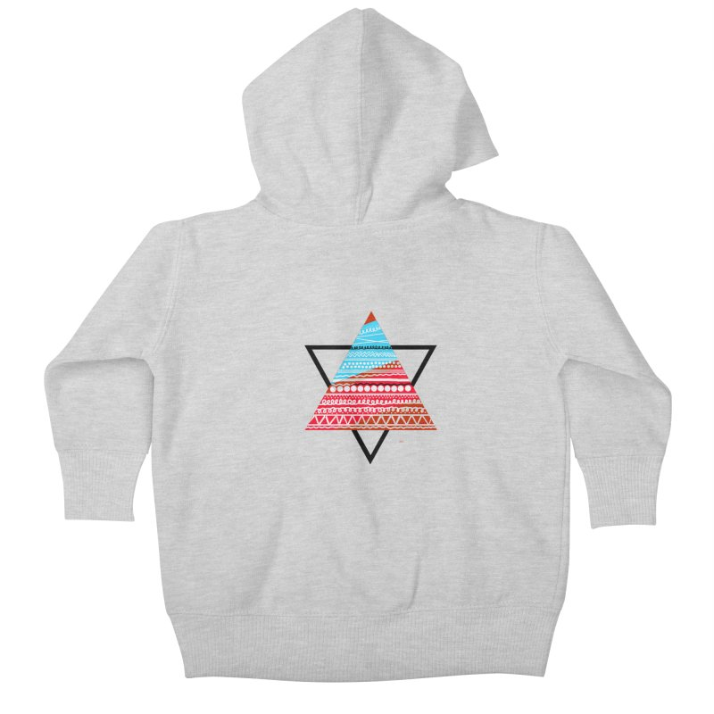 Pyramid3 Kids Baby Zip-Up Hoody by DERG's Artist Shop