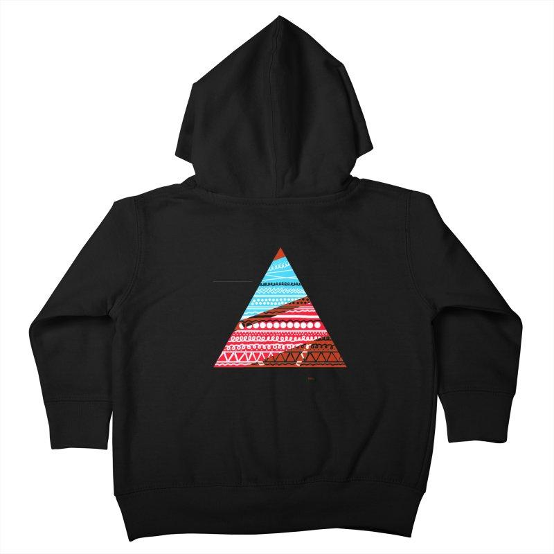 Pyramid3 Kids Toddler Zip-Up Hoody by DERG's Artist Shop