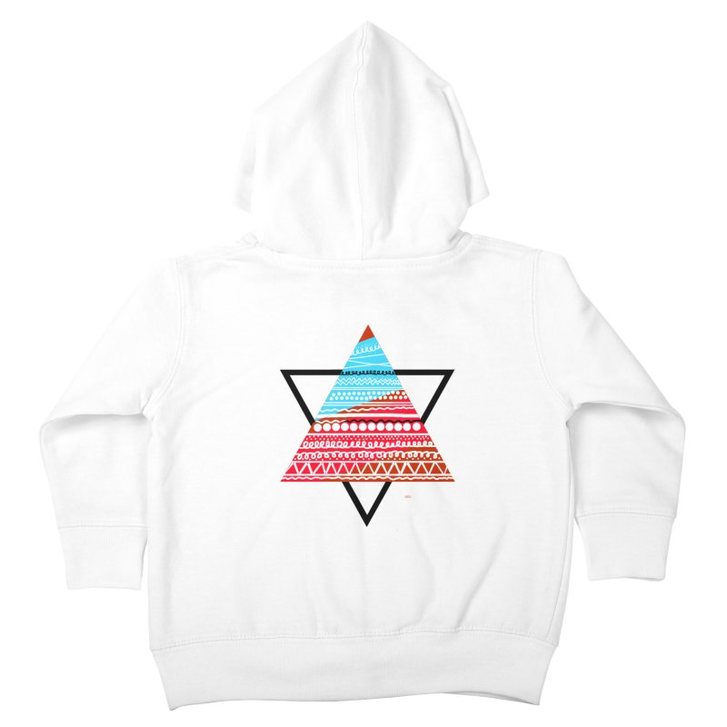 Pyramid3 Kids Toddler Zip-Up Hoody by DERG's Artist Shop