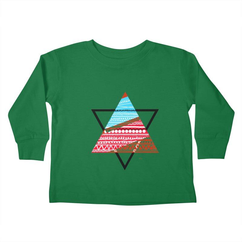 Pyramid3 Kids Toddler Longsleeve T-Shirt by DERG's Artist Shop