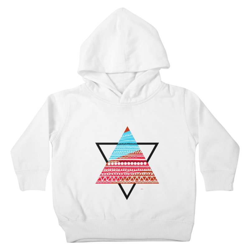 Pyramid3 Kids Toddler Pullover Hoody by DERG's Artist Shop