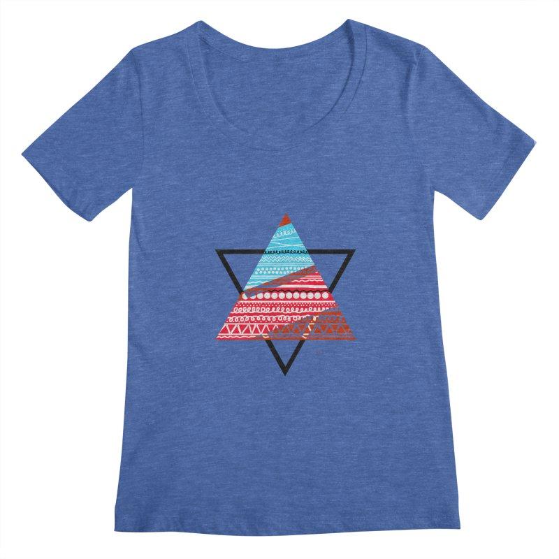 Pyramid3 Women's Scoopneck by DERG's Artist Shop