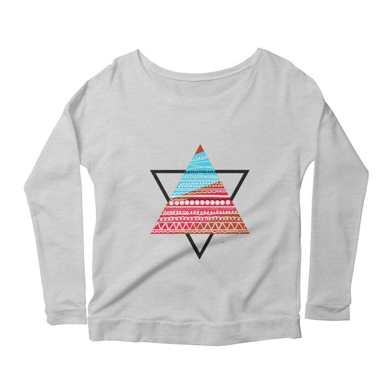 Pyramid3 Women's Scoop Neck Longsleeve T-Shirt by DERG's Artist Shop