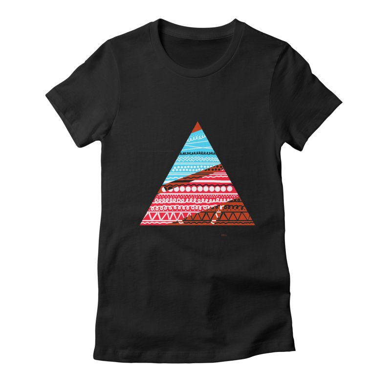 Pyramid3 Women's Fitted T-Shirt by DERG's Artist Shop