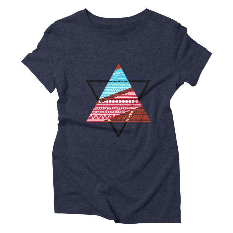 Pyramid3 Women's Triblend T-Shirt by DERG's Artist Shop