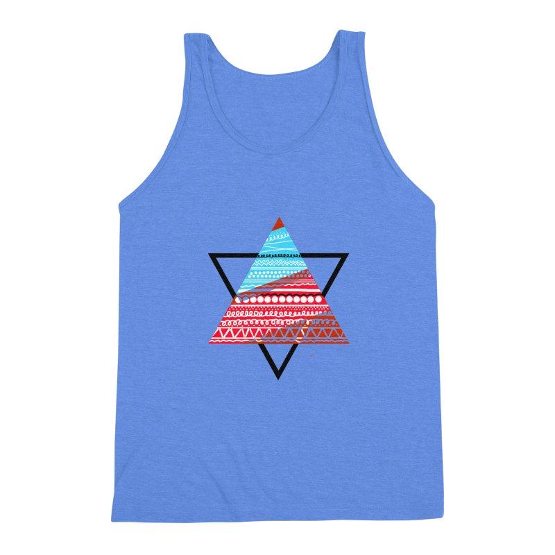 Pyramid3 Men's Triblend Tank by DERG's Artist Shop