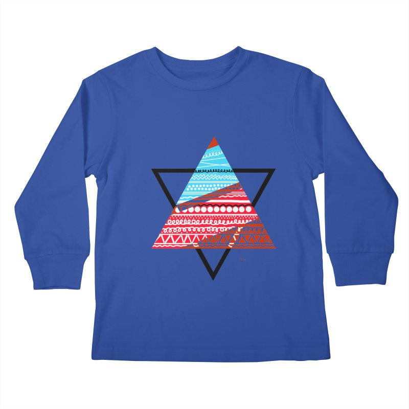 Pyramid3 Kids Longsleeve T-Shirt by DERG's Artist Shop