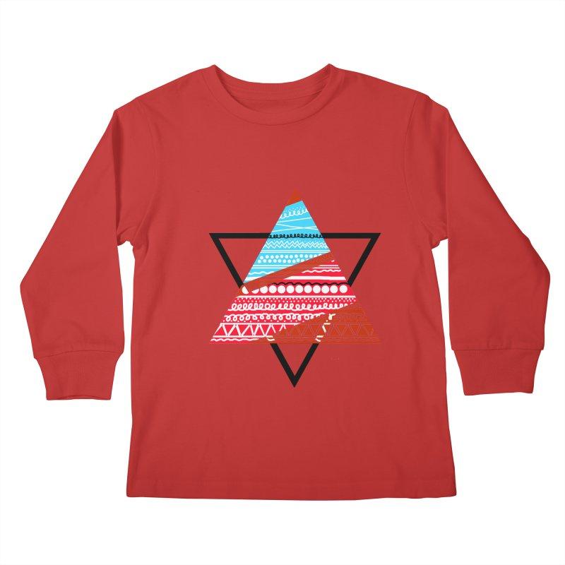 Pyramid3 Kids Longsleeve T-Shirt by DERG's Artist Shop