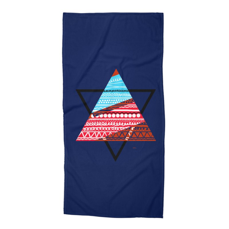 Pyramid3 Accessories Beach Towel by DERG's Artist Shop