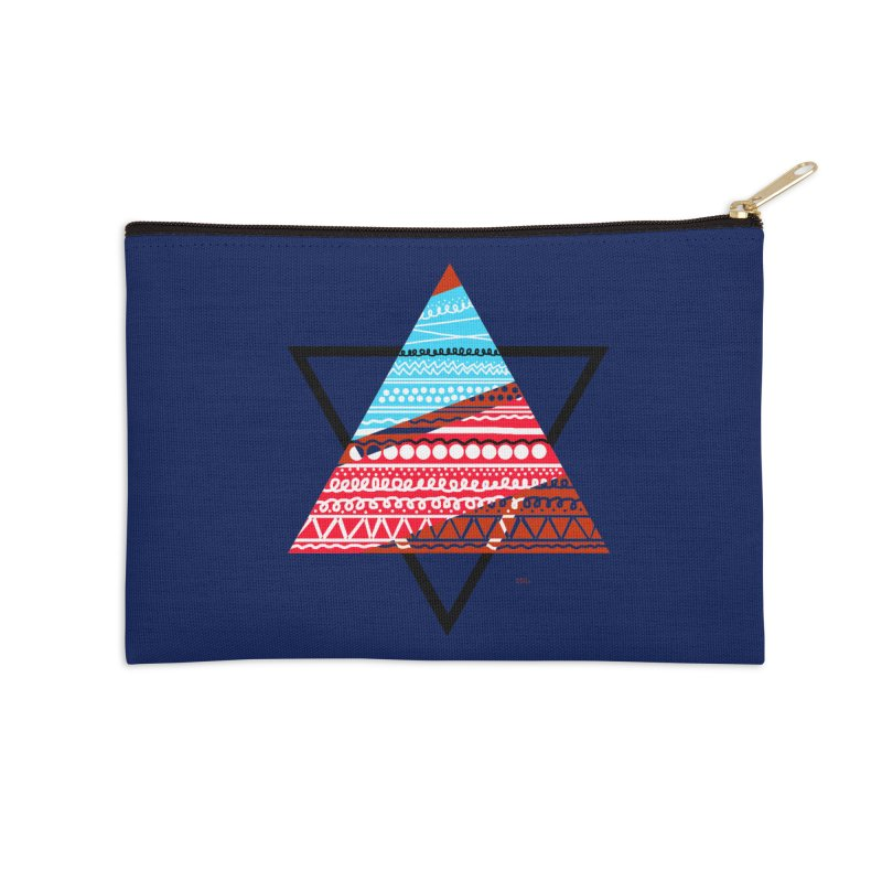 Pyramid3 Accessories Zip Pouch by DERG's Artist Shop