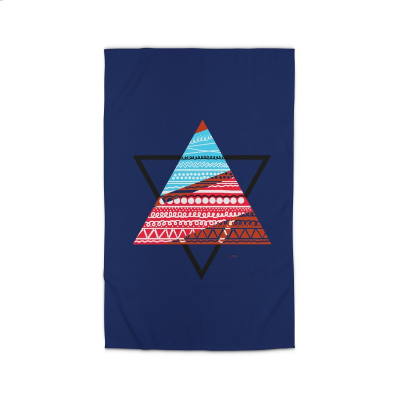 Pyramid3 Home Rug by DERG's Artist Shop