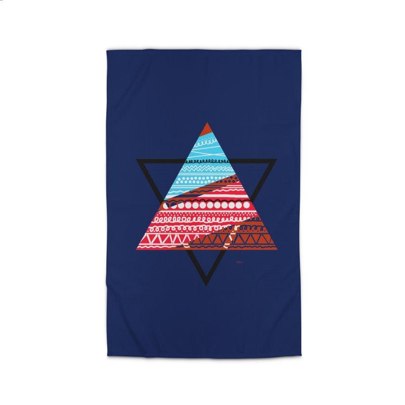 Pyramid3 Home Rug by DERG's Artist Shop