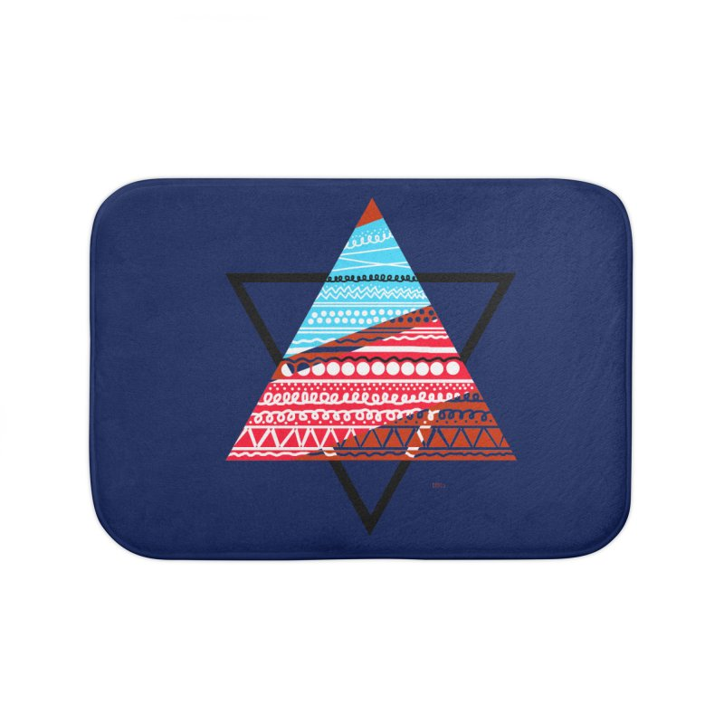Pyramid3 Home Bath Mat by DERG's Artist Shop