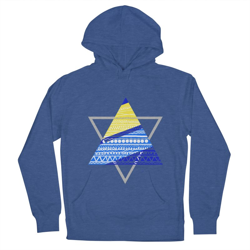Pyramid gray Women's French Terry Pullover Hoody by DERG's Artist Shop