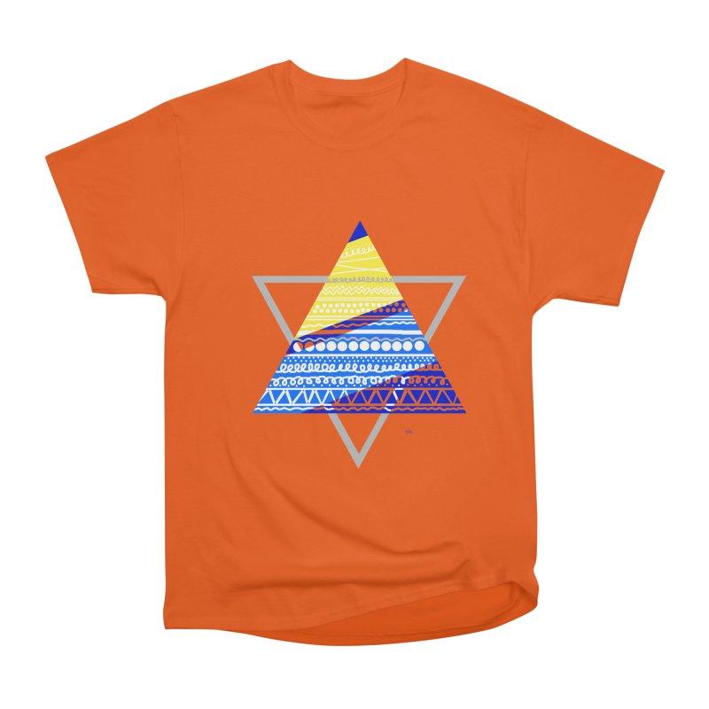 Pyramid gray Men's Heavyweight T-Shirt by DERG's Artist Shop