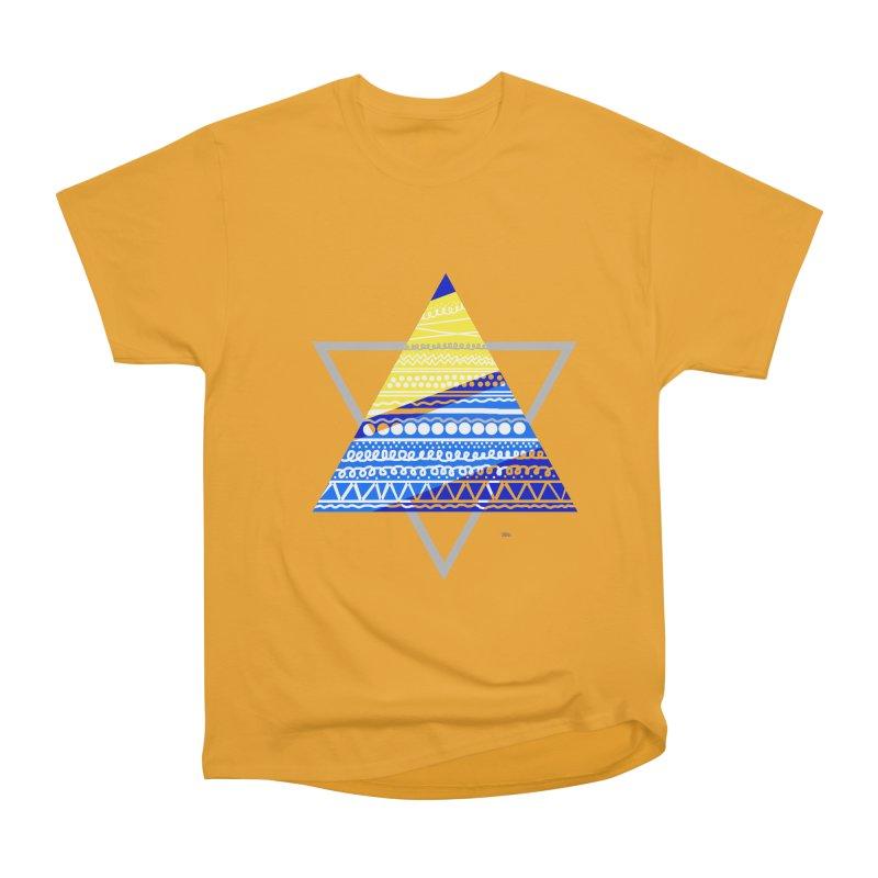 Pyramid gray Women's Heavyweight Unisex T-Shirt by DERG's Artist Shop