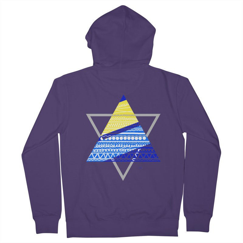 Pyramid gray Women's Zip-Up Hoody by DERG's Artist Shop