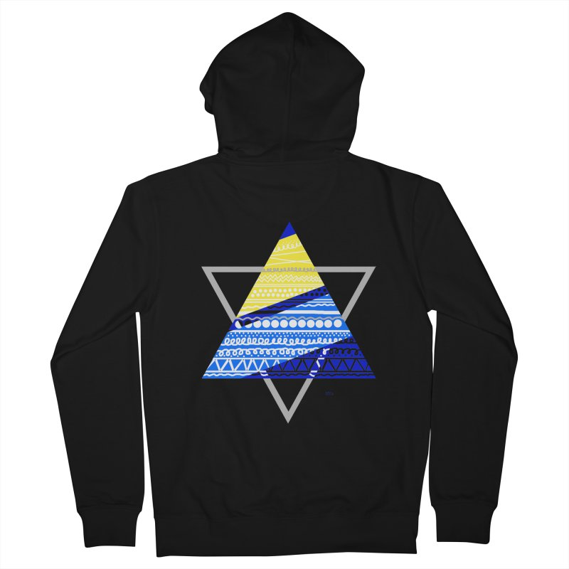 Pyramid gray Men's French Terry Zip-Up Hoody by DERG's Artist Shop