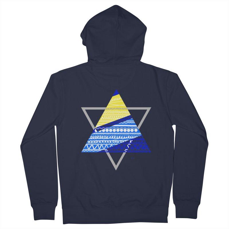 Pyramid gray Men's Zip-Up Hoody by DERG's Artist Shop