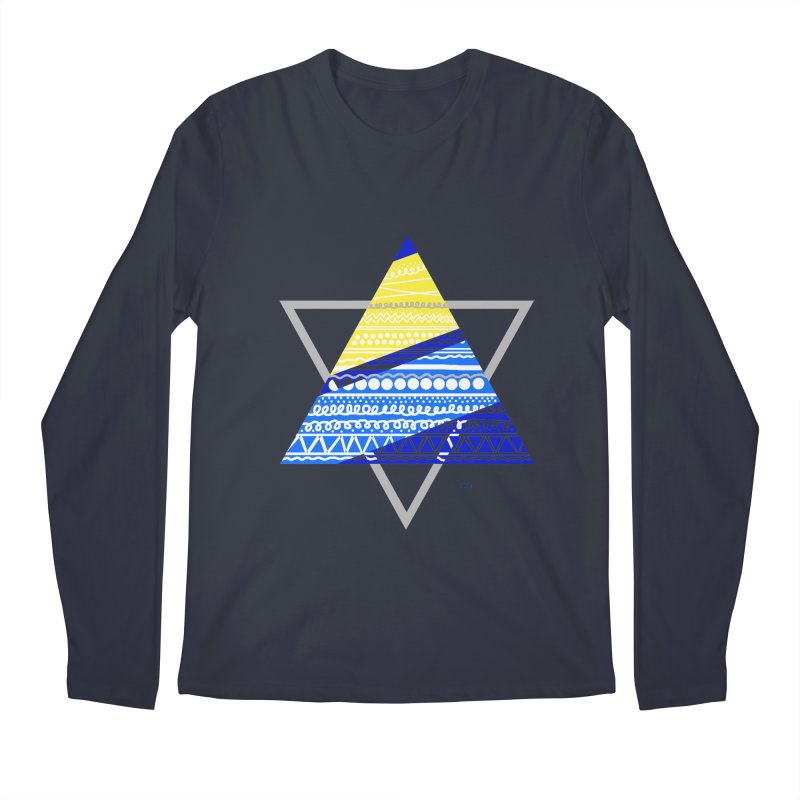Pyramid gray Men's Regular Longsleeve T-Shirt by DERG's Artist Shop