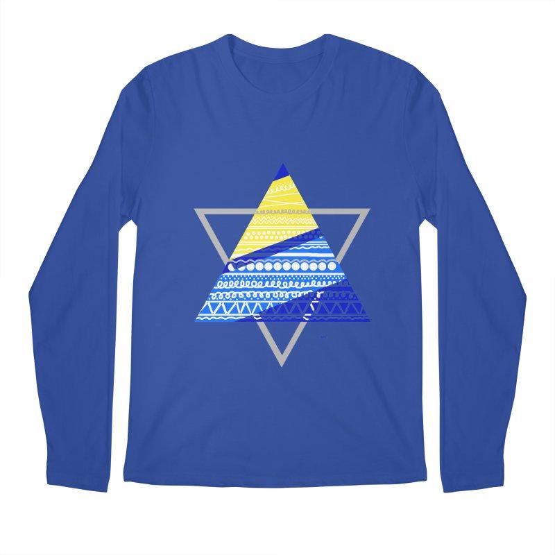 Pyramid gray Men's Regular Longsleeve T-Shirt by DERG's Artist Shop
