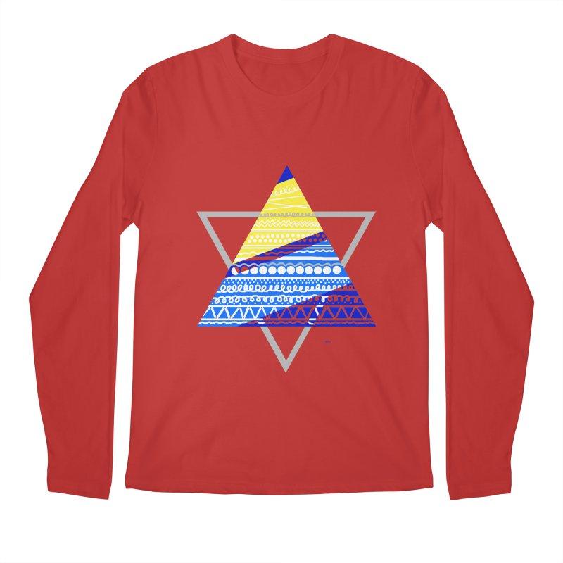 Pyramid gray Men's Longsleeve T-Shirt by DERG's Artist Shop