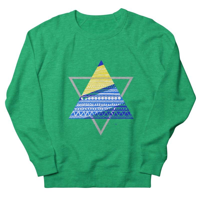 Pyramid gray Men's French Terry Sweatshirt by DERG's Artist Shop