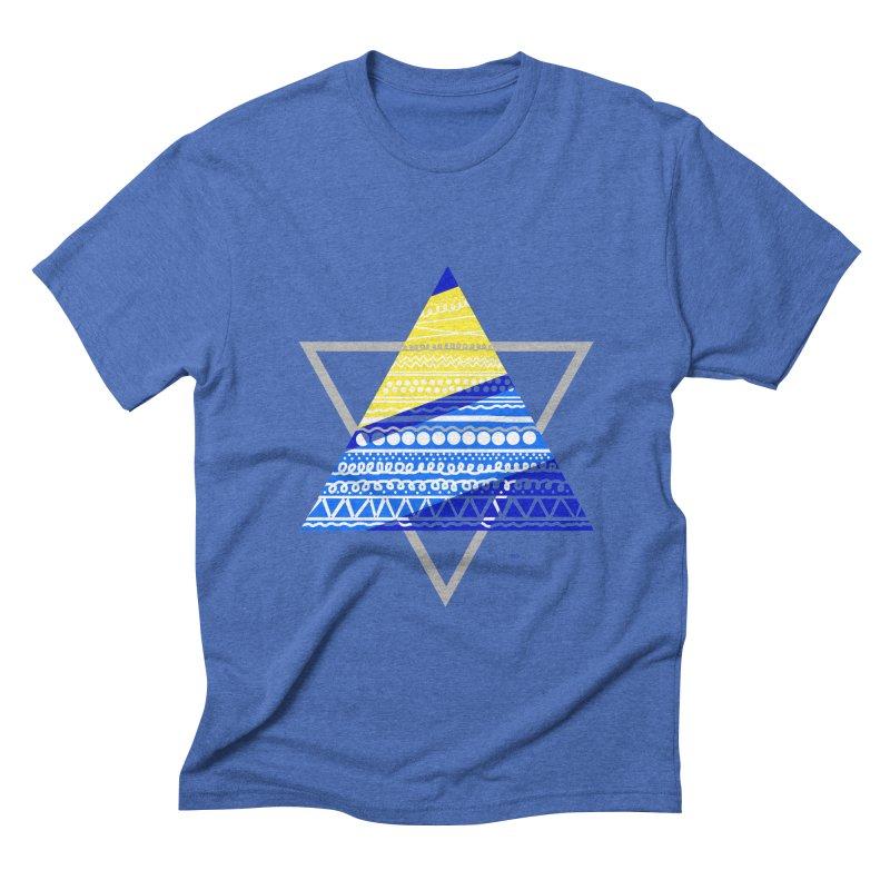Pyramid gray Men's Triblend T-Shirt by DERG's Artist Shop