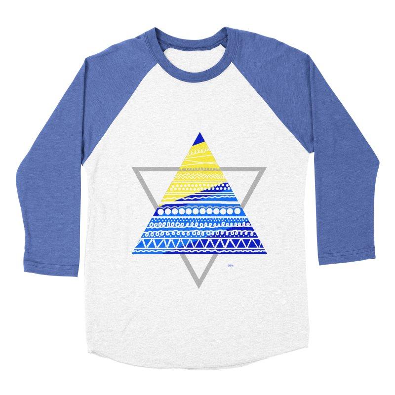 Pyramid gray Women's Baseball Triblend T-Shirt by DERG's Artist Shop