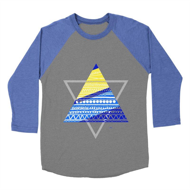 Pyramid gray Men's Baseball Triblend T-Shirt by DERG's Artist Shop