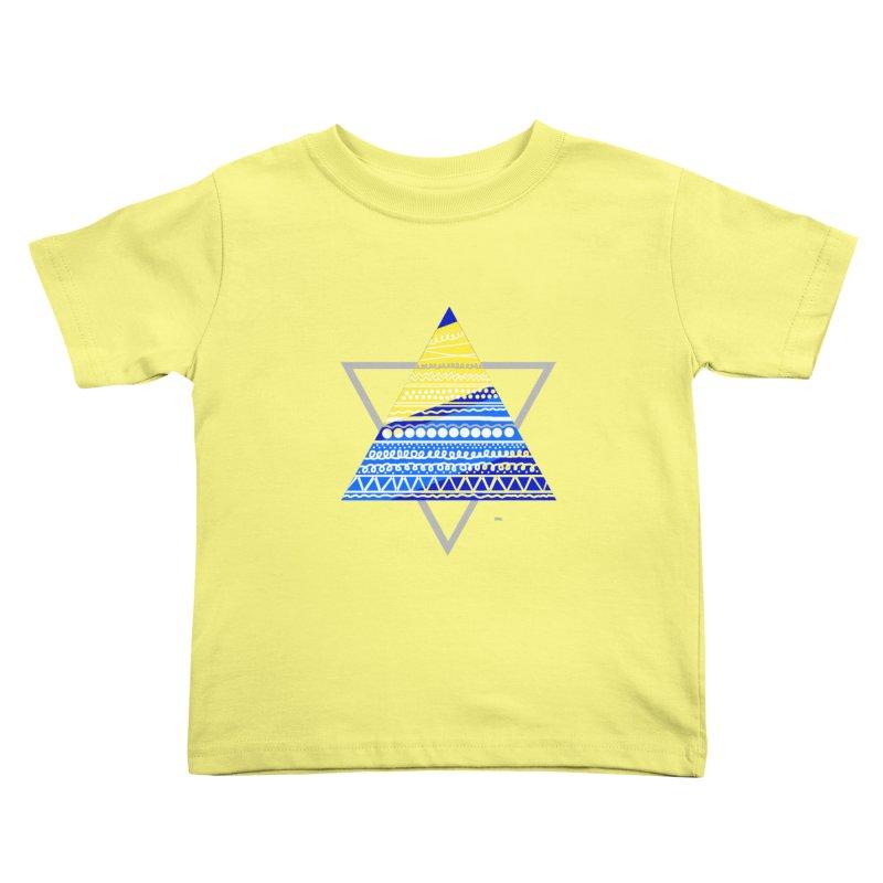 Pyramid gray Kids Toddler T-Shirt by DERG's Artist Shop