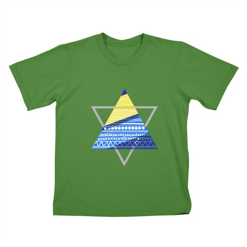 Pyramid gray Kids T-Shirt by DERG's Artist Shop