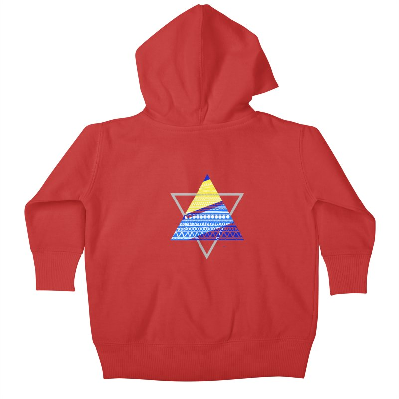 Pyramid gray Kids Baby Zip-Up Hoody by DERG's Artist Shop