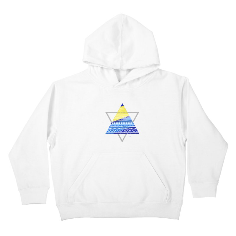 Pyramid gray Kids Pullover Hoody by DERG's Artist Shop