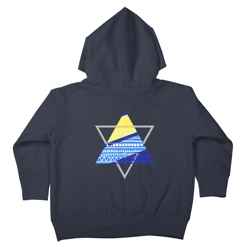 Pyramid gray Kids Toddler Zip-Up Hoody by DERG's Artist Shop