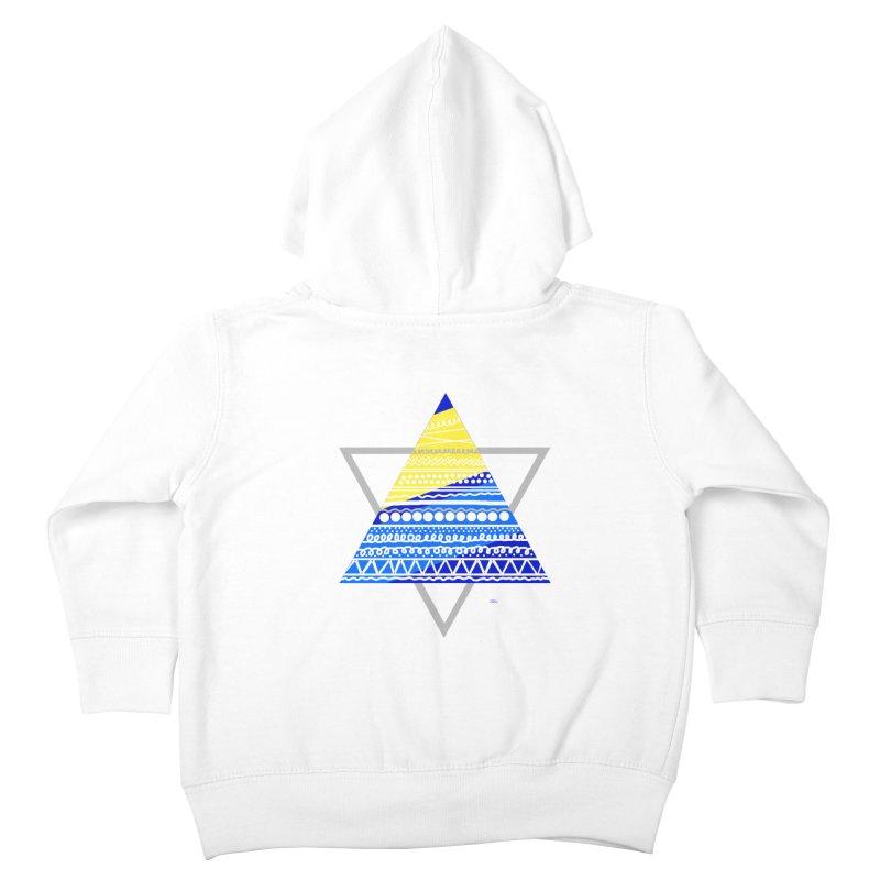 Pyramid gray Kids Toddler Zip-Up Hoody by DERG's Artist Shop