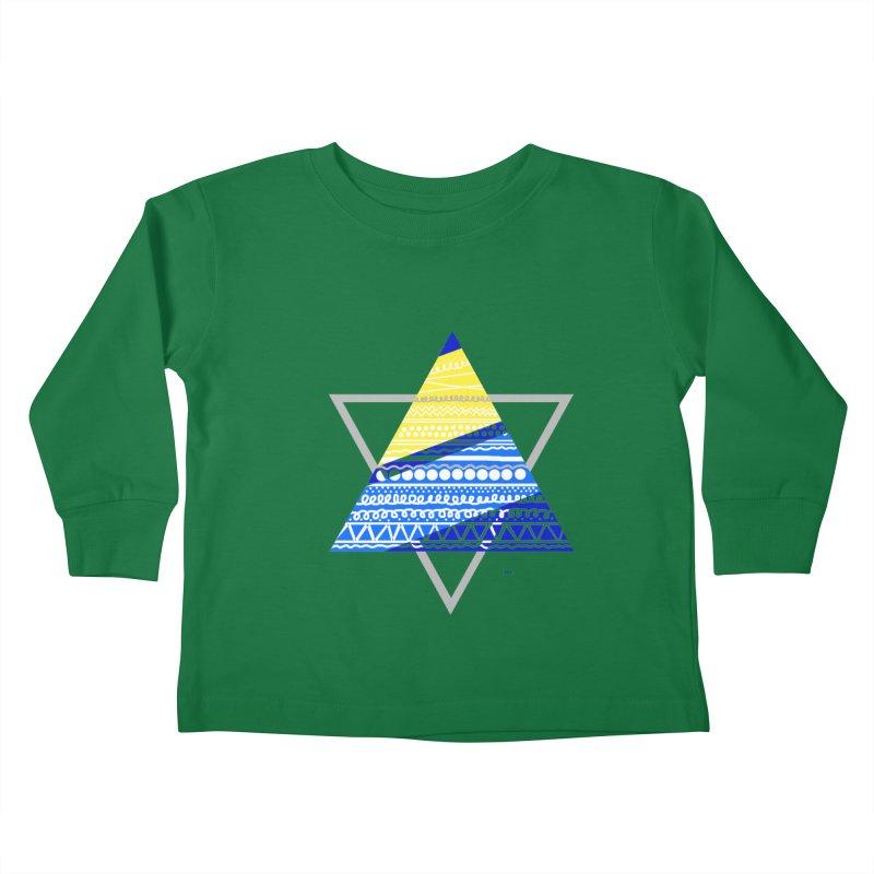 Pyramid gray Kids Toddler Longsleeve T-Shirt by DERG's Artist Shop