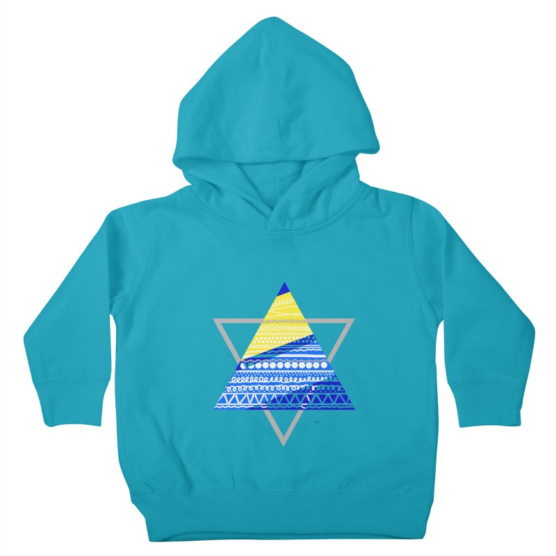 Pyramid gray Kids Toddler Pullover Hoody by DERG's Artist Shop