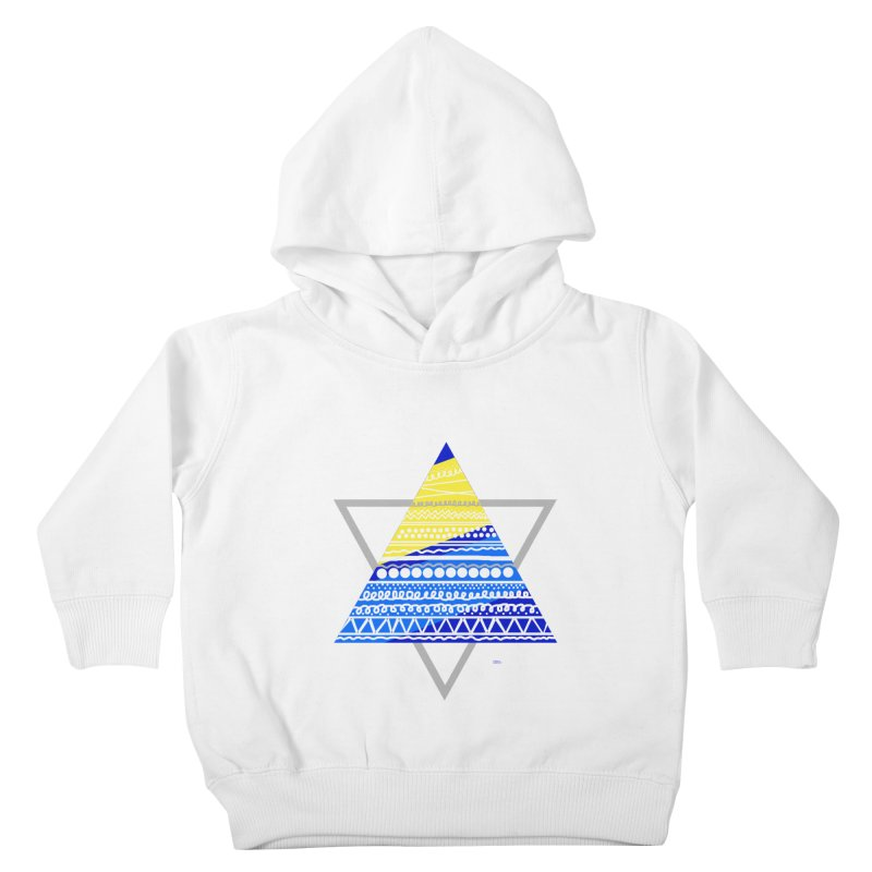 Pyramid gray Kids Toddler Pullover Hoody by DERG's Artist Shop