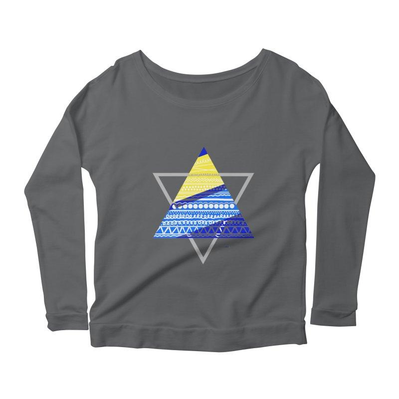 Pyramid gray Women's Longsleeve Scoopneck  by DERG's Artist Shop